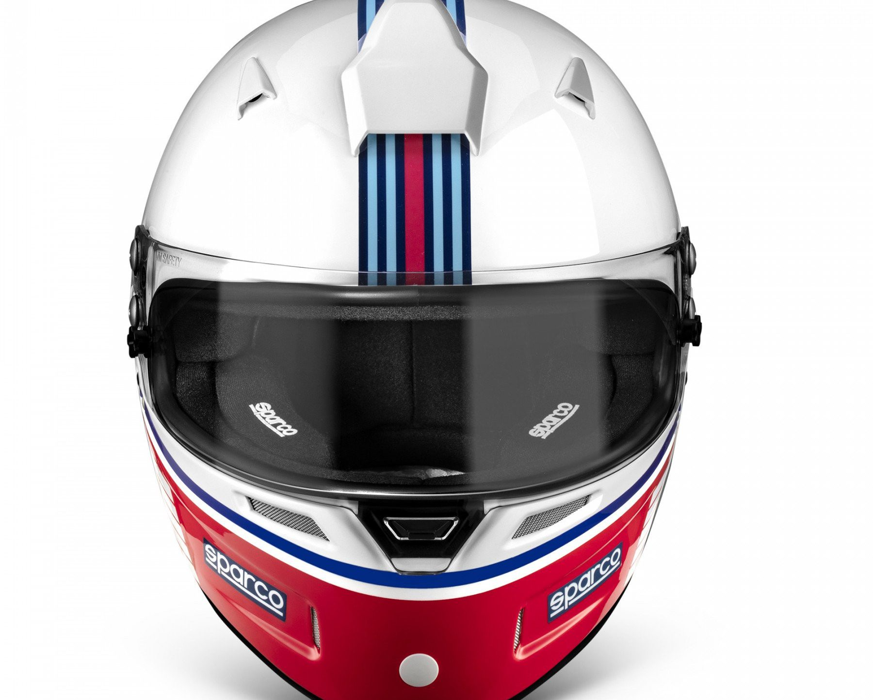 Нов продукт: FIA Sparco Air Pro RF-5W Martini Racing, Racing Helmet, Stripes Design