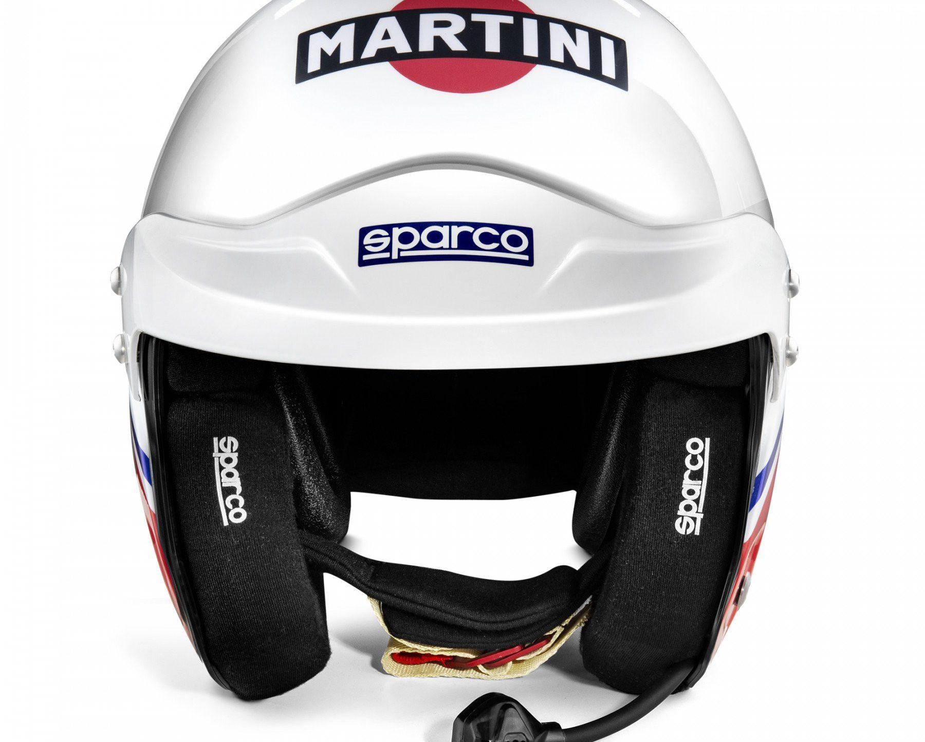 Нов продукт: FIA Sparco Air Pro RJ-5i Martini Racing, Open Racing Helmet, Logo Design